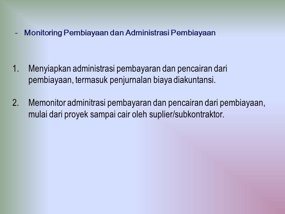 - Monitoring Pembiayaan dan Administrasi Pembiayaan