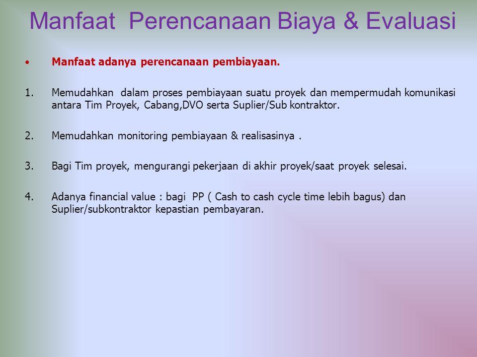 Manfaat Perencanaan Biaya & Evaluasi