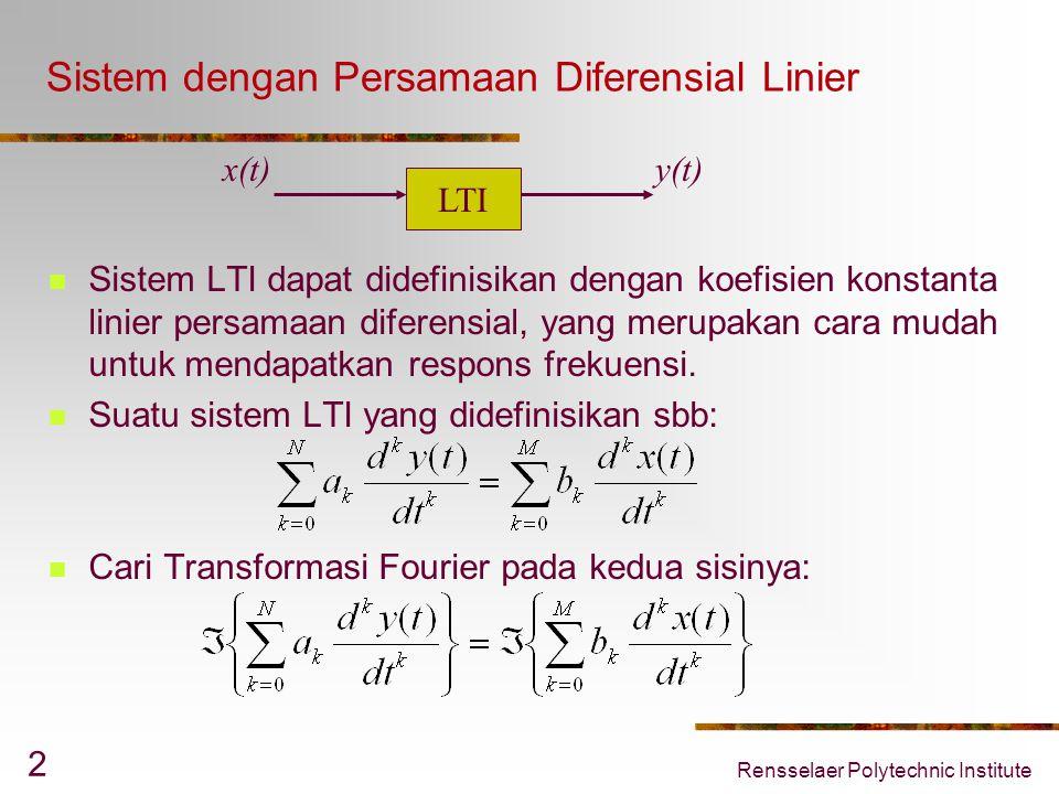 Sistem dengan Persamaan Diferensial Linier