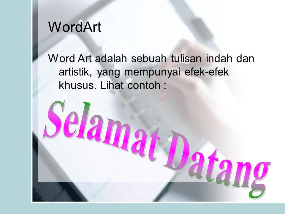 WordArt Selamat Datang
