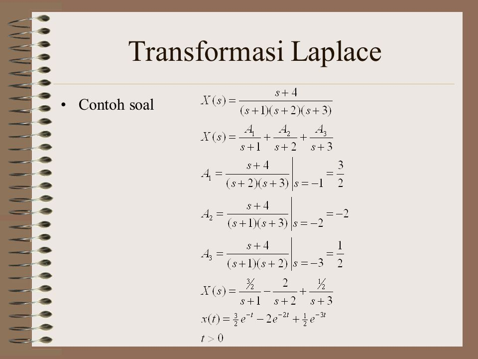 Transformasi Laplace Contoh soal