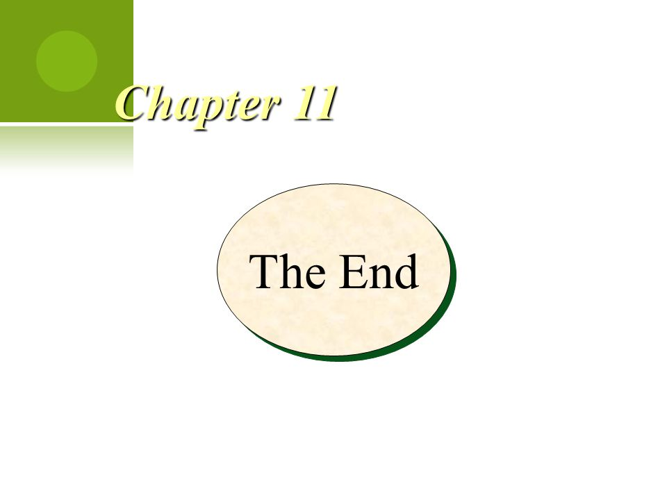 Chapter 11 The End