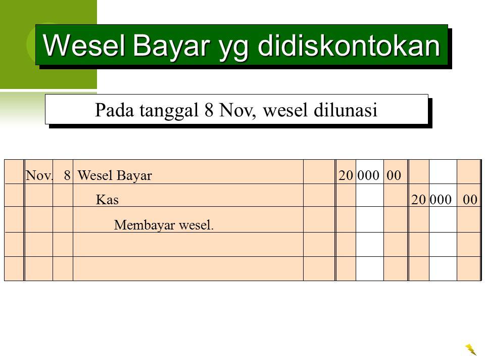 Wesel Bayar yg didiskontokan
