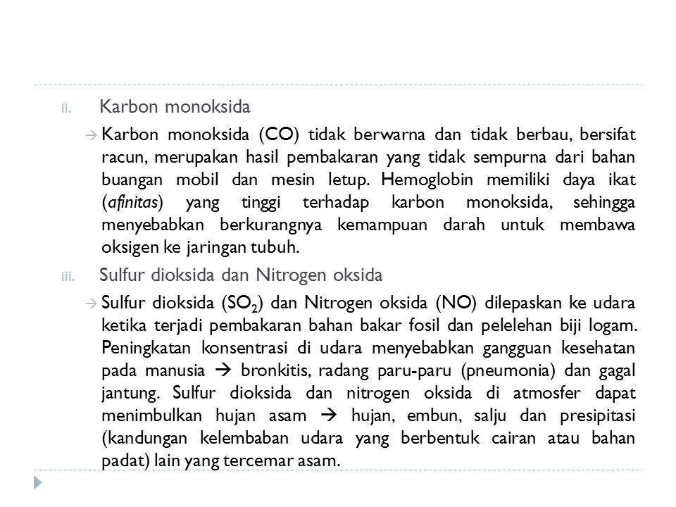 Sulfur dioksida dan Nitrogen oksida