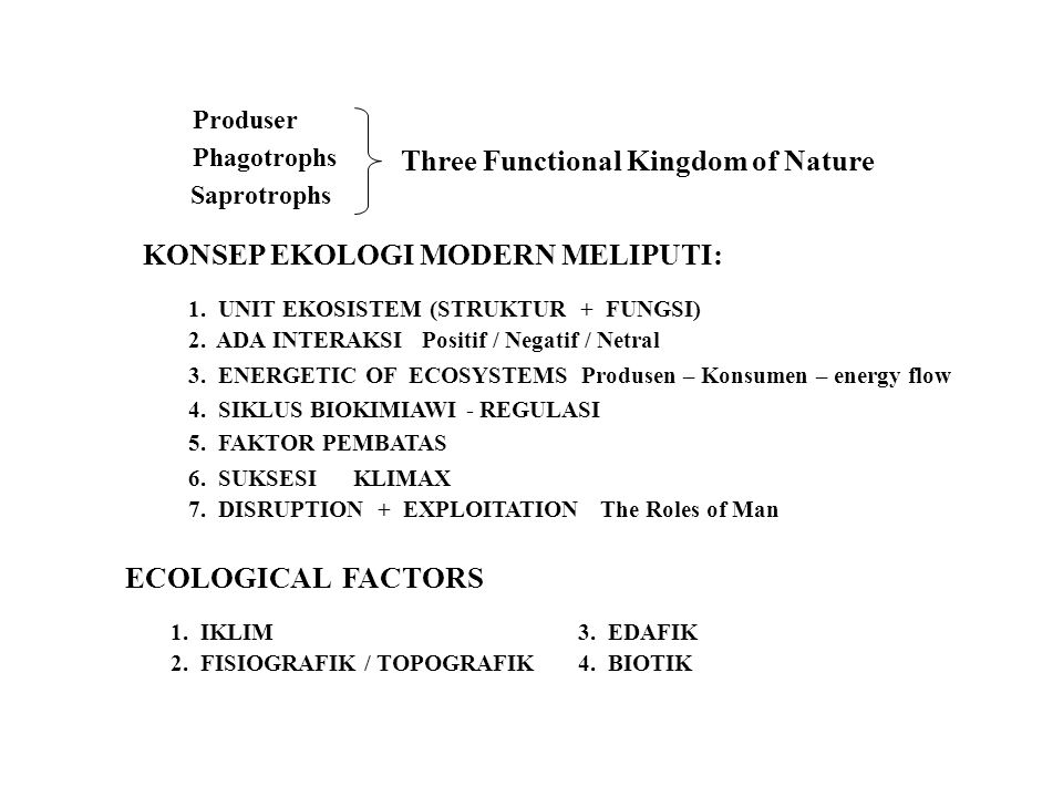 Three Functional Kingdom of Nature