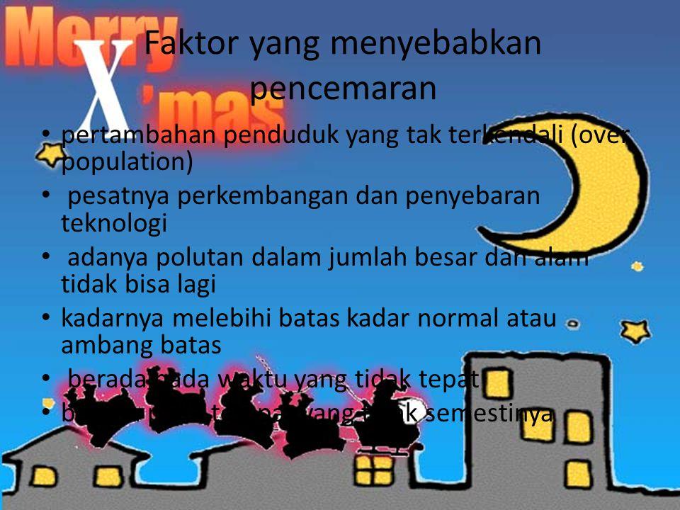Faktor yang menyebabkan pencemaran