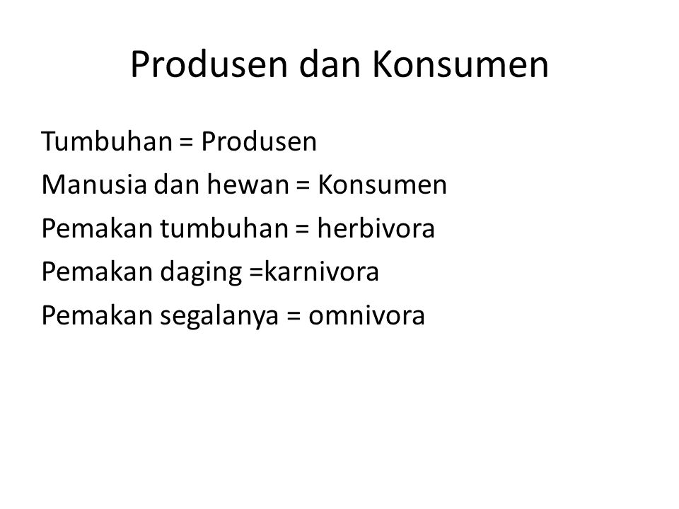 Produsen dan Konsumen