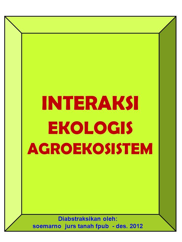 INTERAKSI EKOLOGIS AGROEKOSISTEM