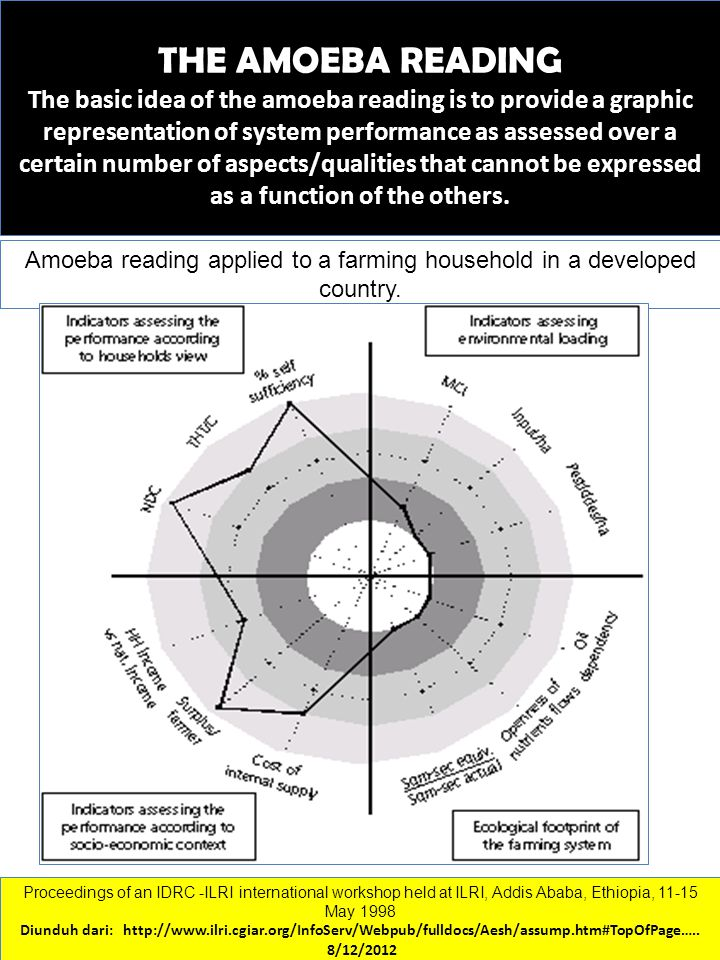 Amoeba reading applied to a farming household in a developed country.