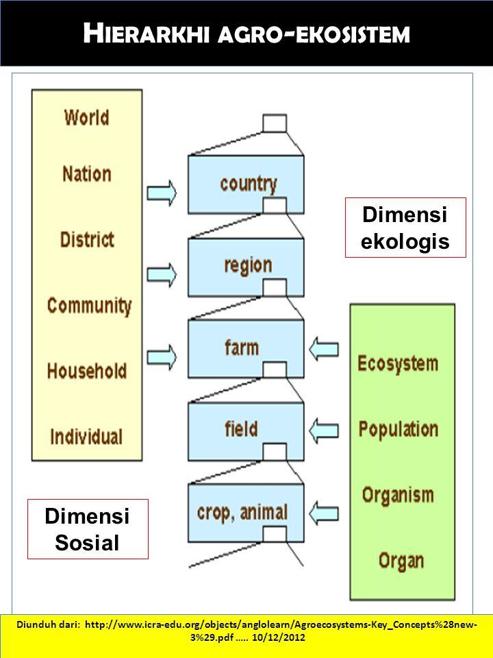 Hierarkhi agro-ekosistem