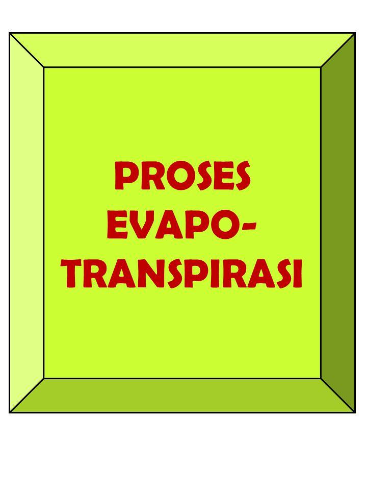 PROSES EVAPO-TRANSPIRASI