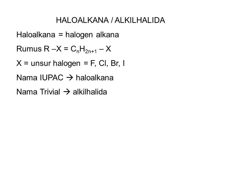 HALOALKANA / ALKILHALIDA