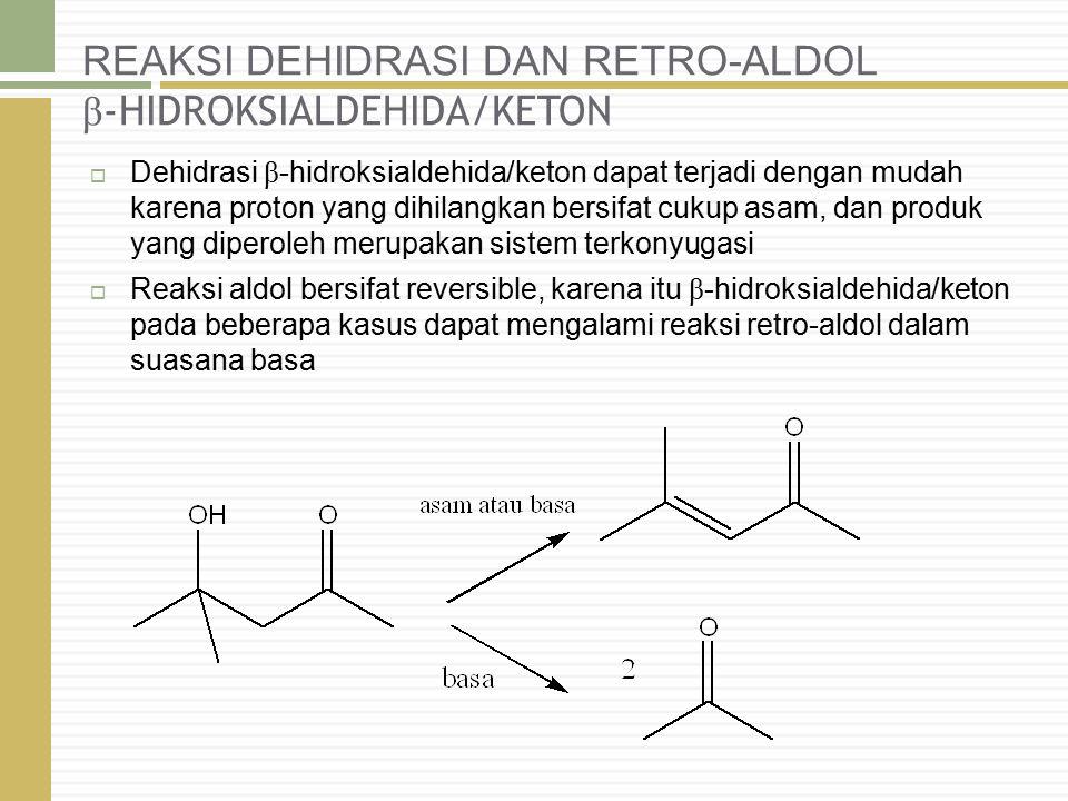 REAKSI DEHIDRASI DAN RETRO-ALDOL β-HIDROKSIALDEHIDA/KETON