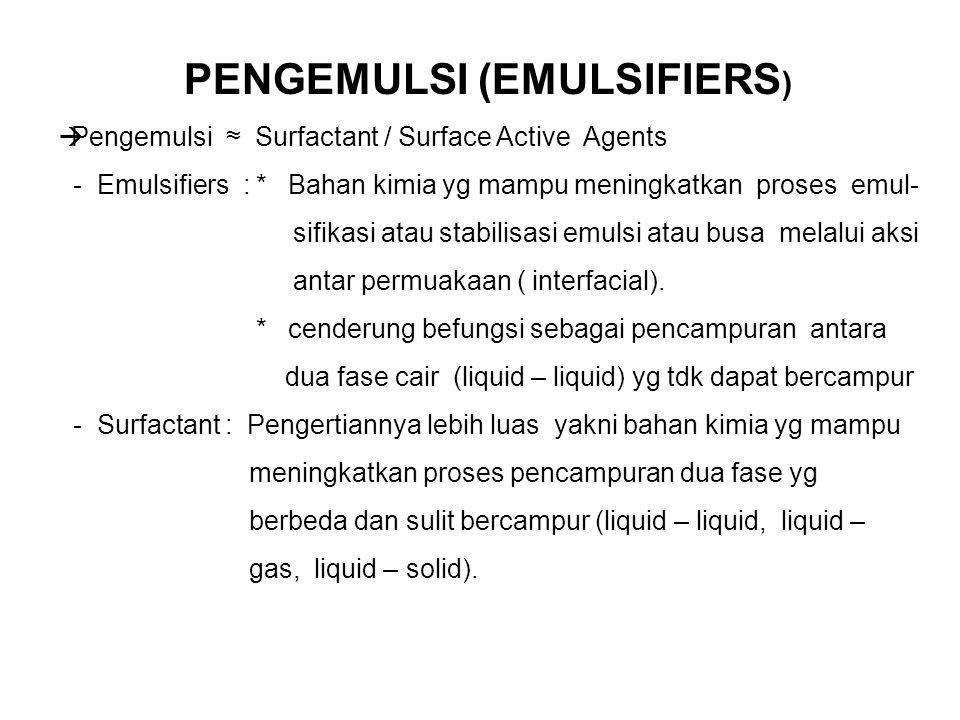 PENGEMULSI (EMULSIFIERS)