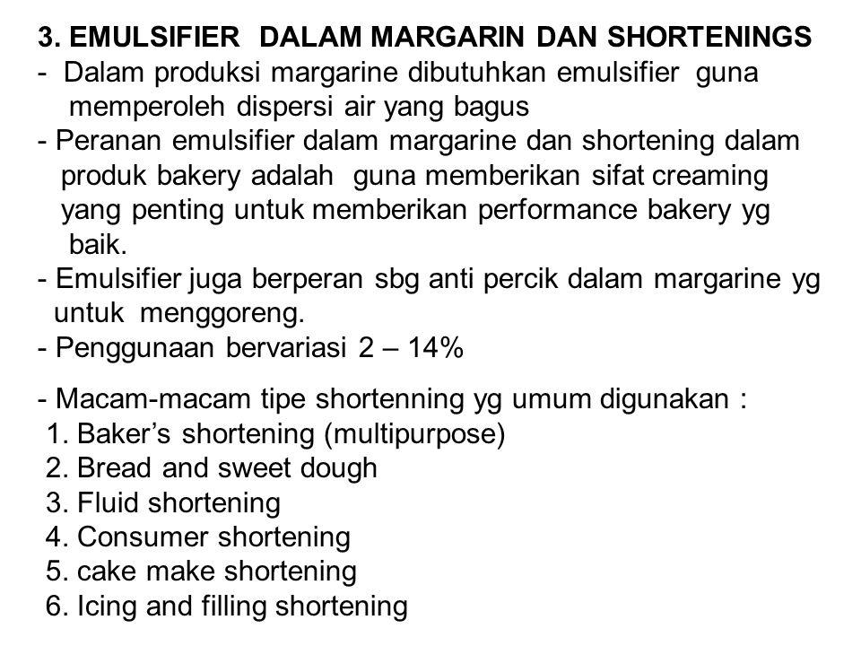 3. EMULSIFIER DALAM MARGARIN DAN SHORTENINGS
