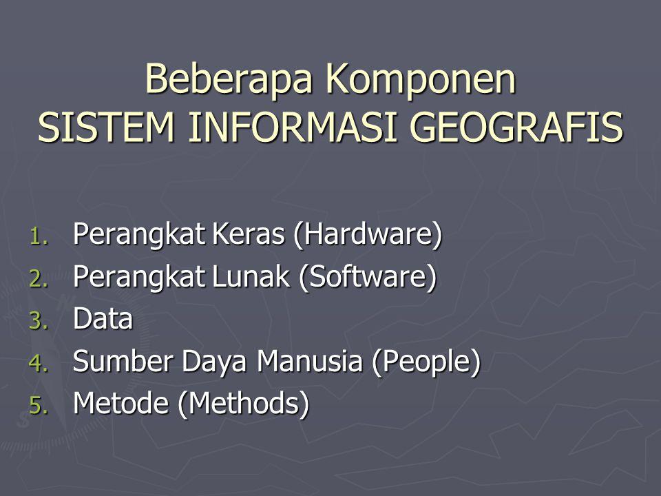 Beberapa Komponen SISTEM INFORMASI GEOGRAFIS