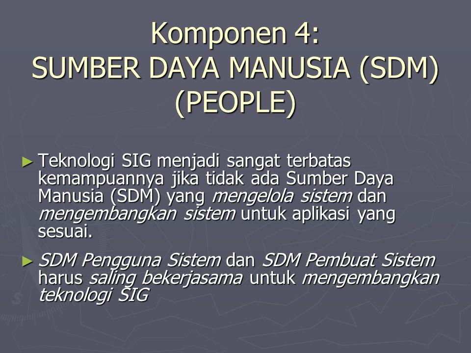 Komponen 4: SUMBER DAYA MANUSIA (SDM) (PEOPLE)