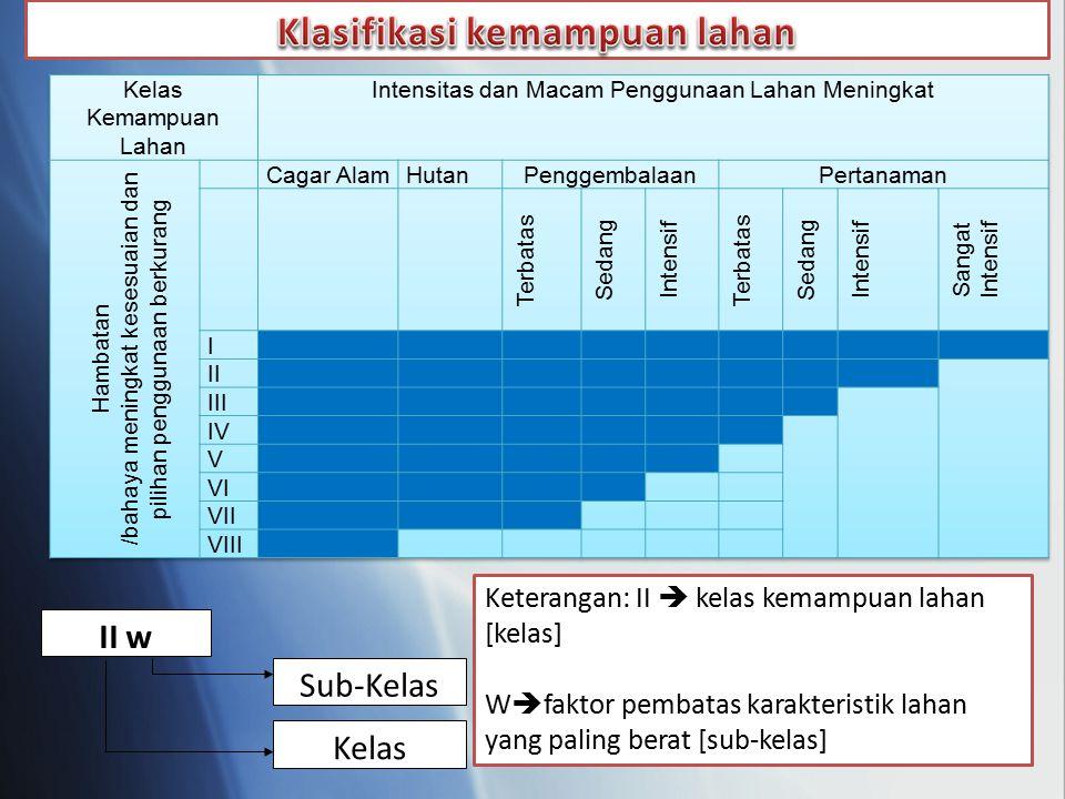 Klasifikasi kemampuan lahan