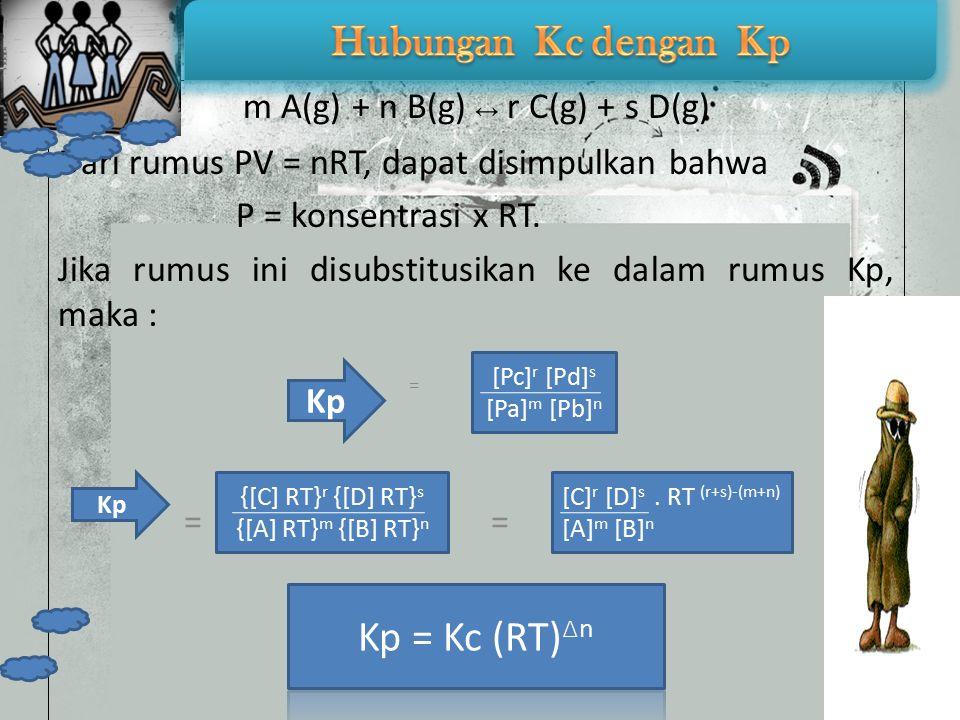 m A(g) + n B(g) ↔ r C(g) + s D(g)
