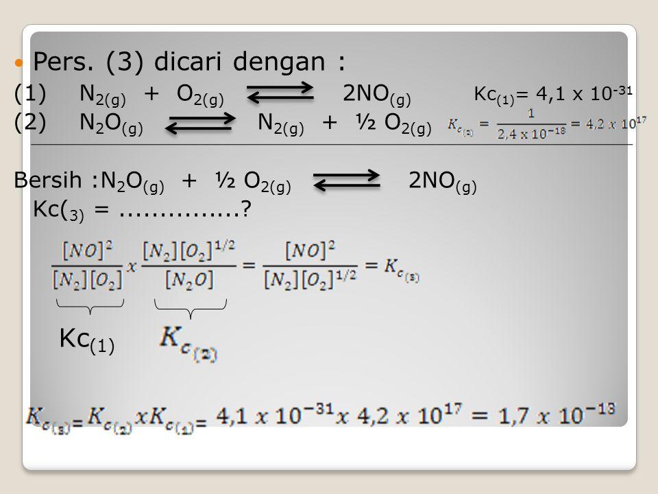 Pers. (3) dicari dengan : Kc(1)