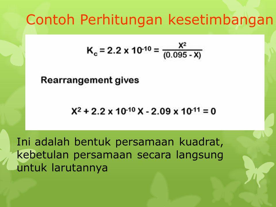 Contoh Perhitungan kesetimbangan