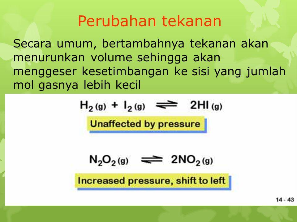 Perubahan tekanan