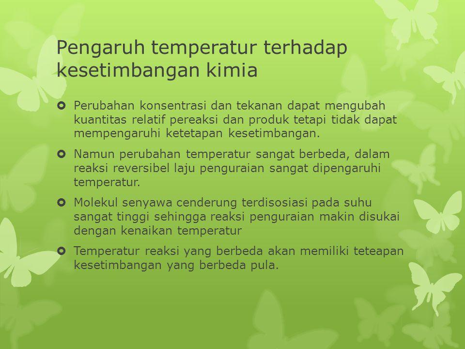 Pengaruh temperatur terhadap kesetimbangan kimia