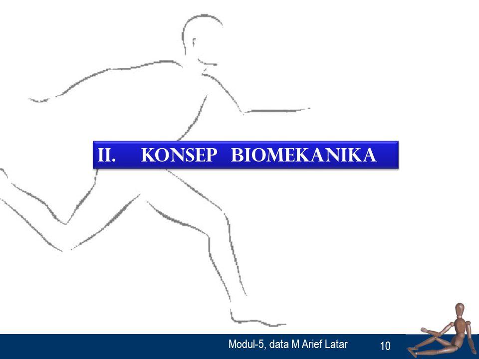 II. Konsep Biomekanika Modul-5, data M Arief Latar