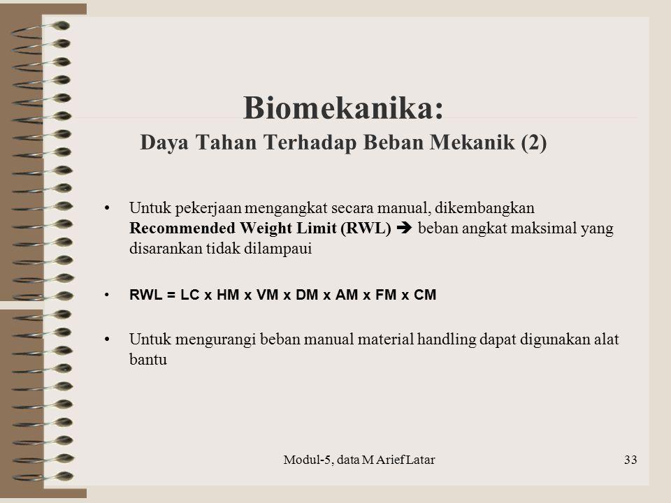 Biomekanika: Daya Tahan Terhadap Beban Mekanik (2)