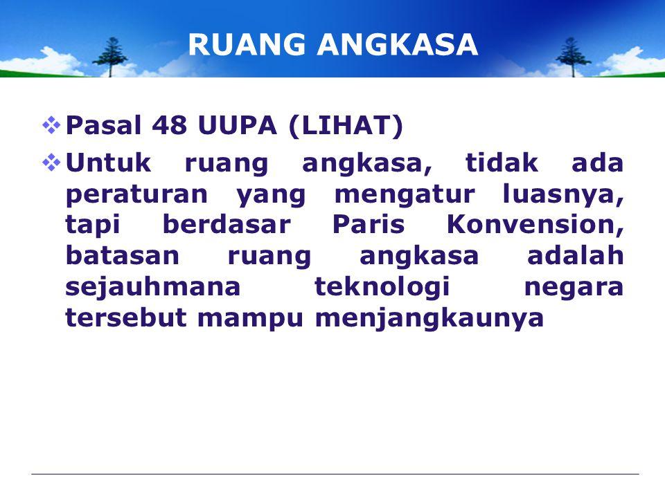 RUANG ANGKASA Pasal 48 UUPA (LIHAT)