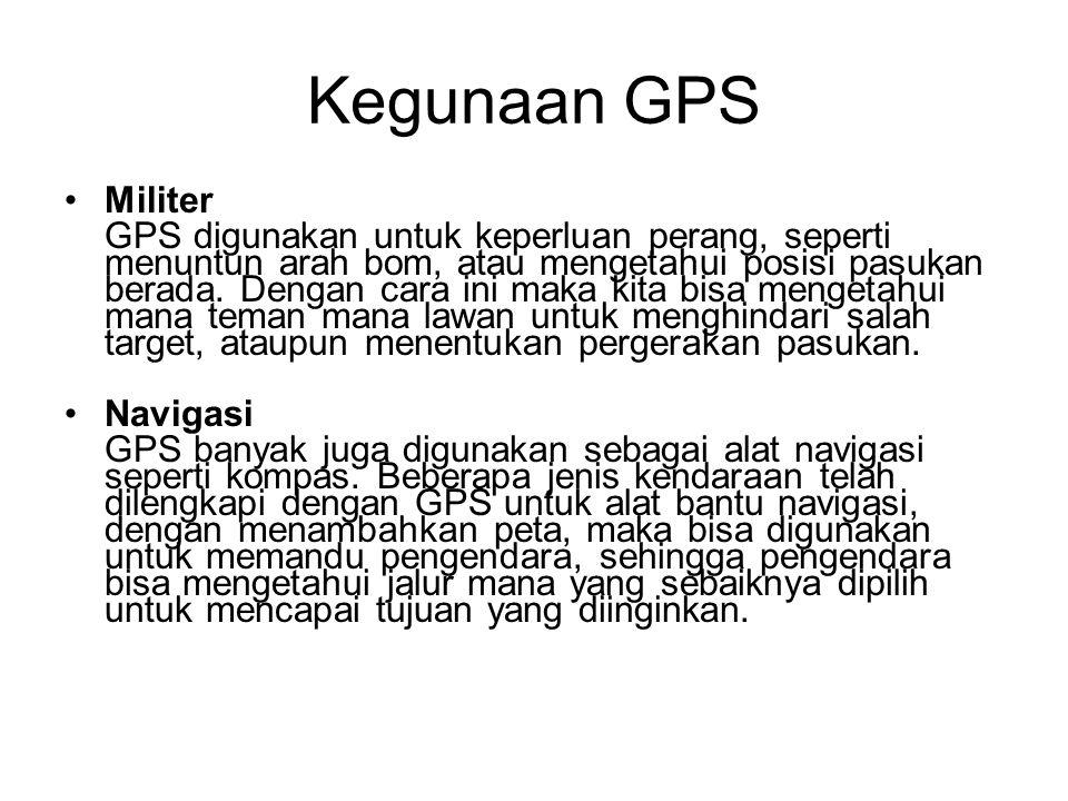 Kegunaan GPS Militer.