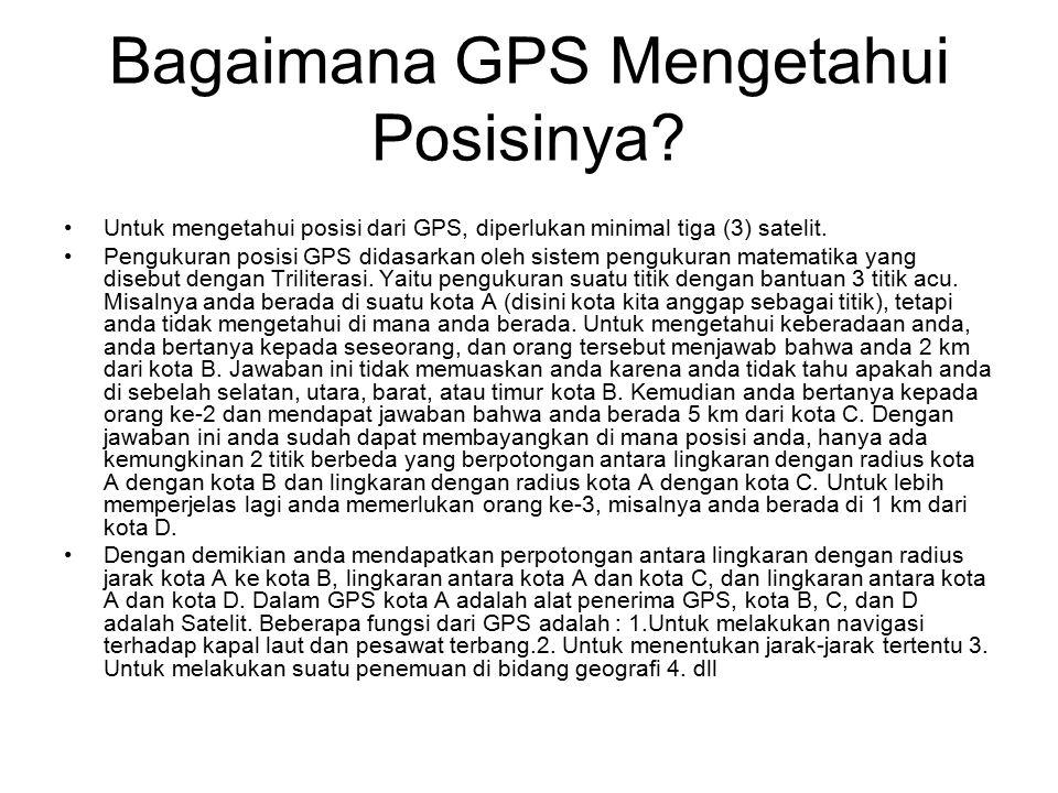 Bagaimana GPS Mengetahui Posisinya