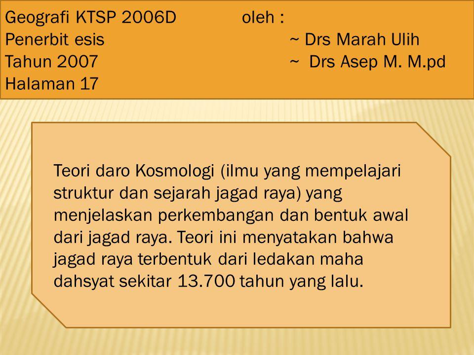 Geografi KTSP 2006D oleh : Penerbit esis ~ Drs Marah Ulih. Tahun 2007 ~ Drs Asep M. M.pd.