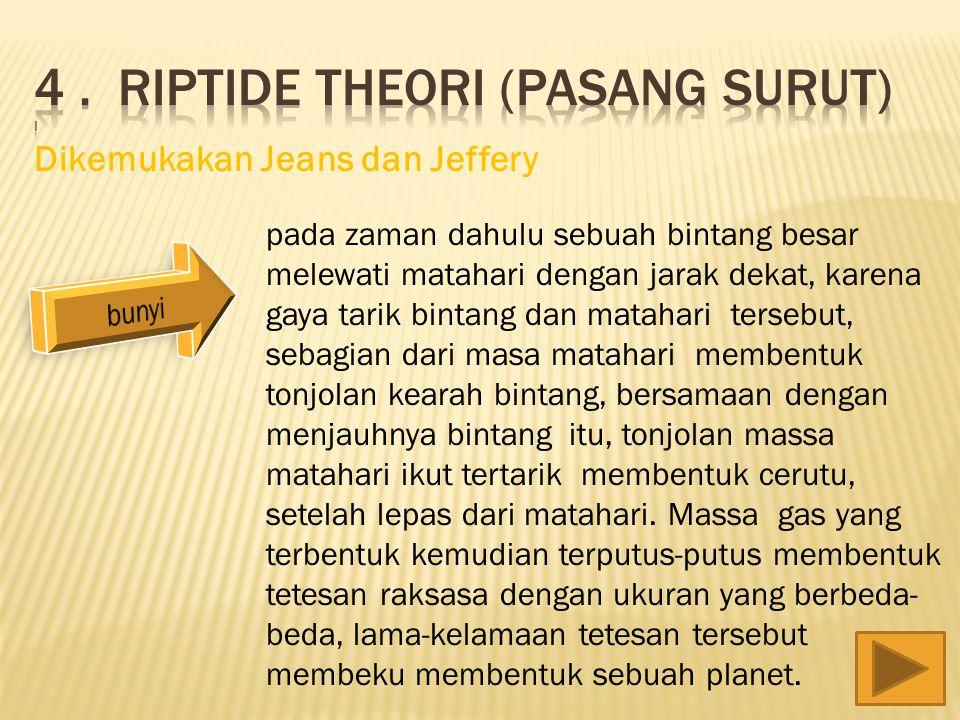 4 . Riptide theori (pasang surut)