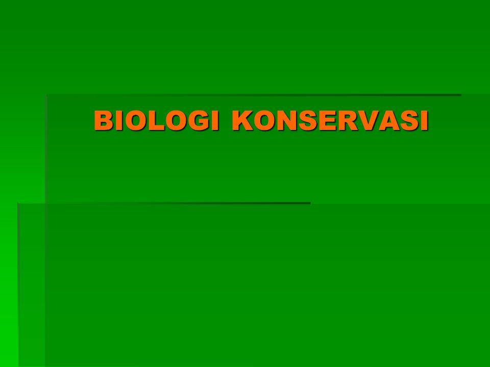 BIOLOGI KONSERVASI