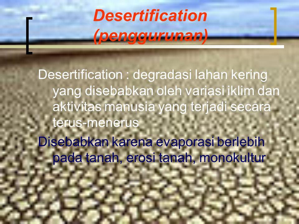 Desertification (penggurunan)