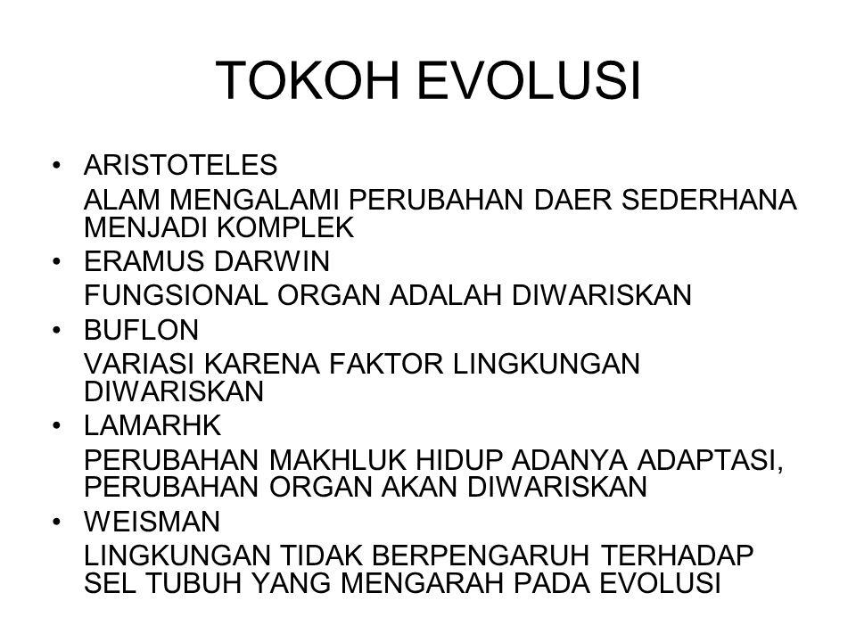 TOKOH EVOLUSI ARISTOTELES