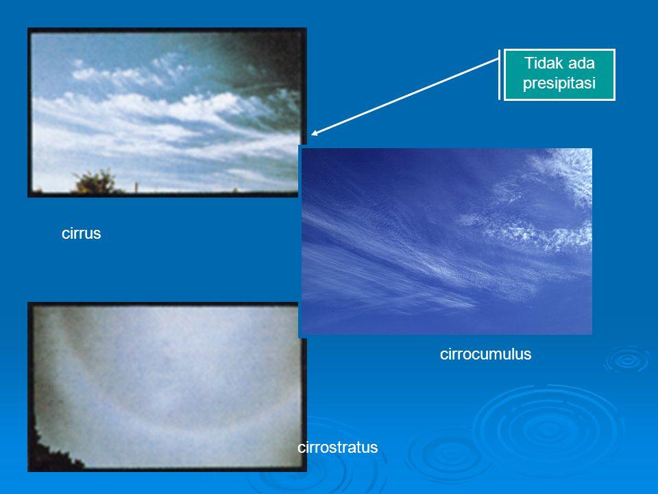 Tidak ada presipitasi cirrus cirrocumulus cirrostratus