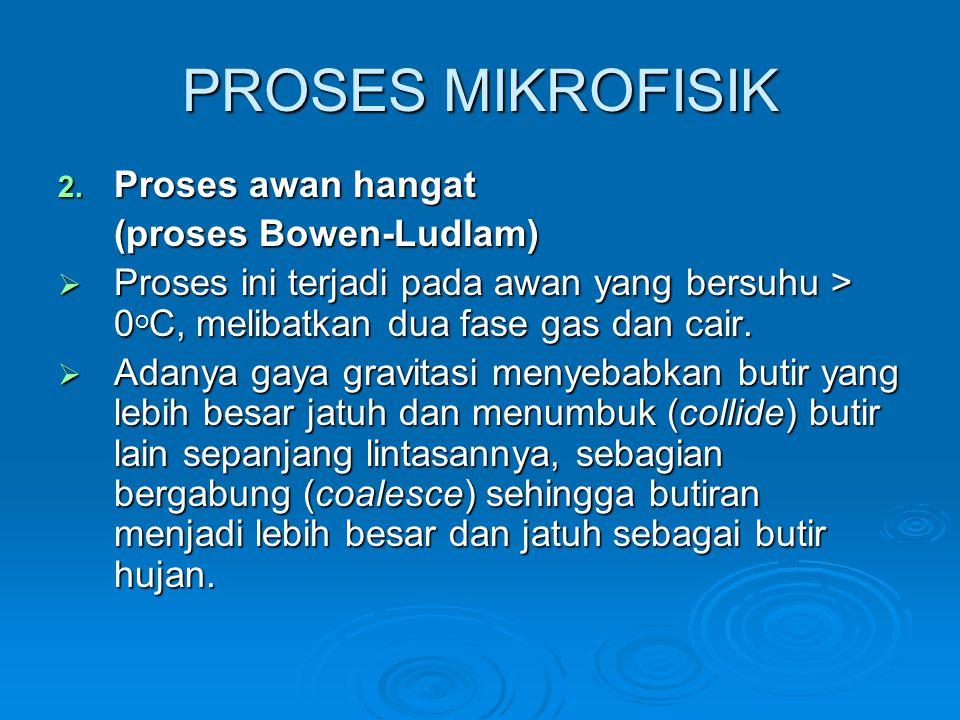 PROSES MIKROFISIK Proses awan hangat (proses Bowen-Ludlam)