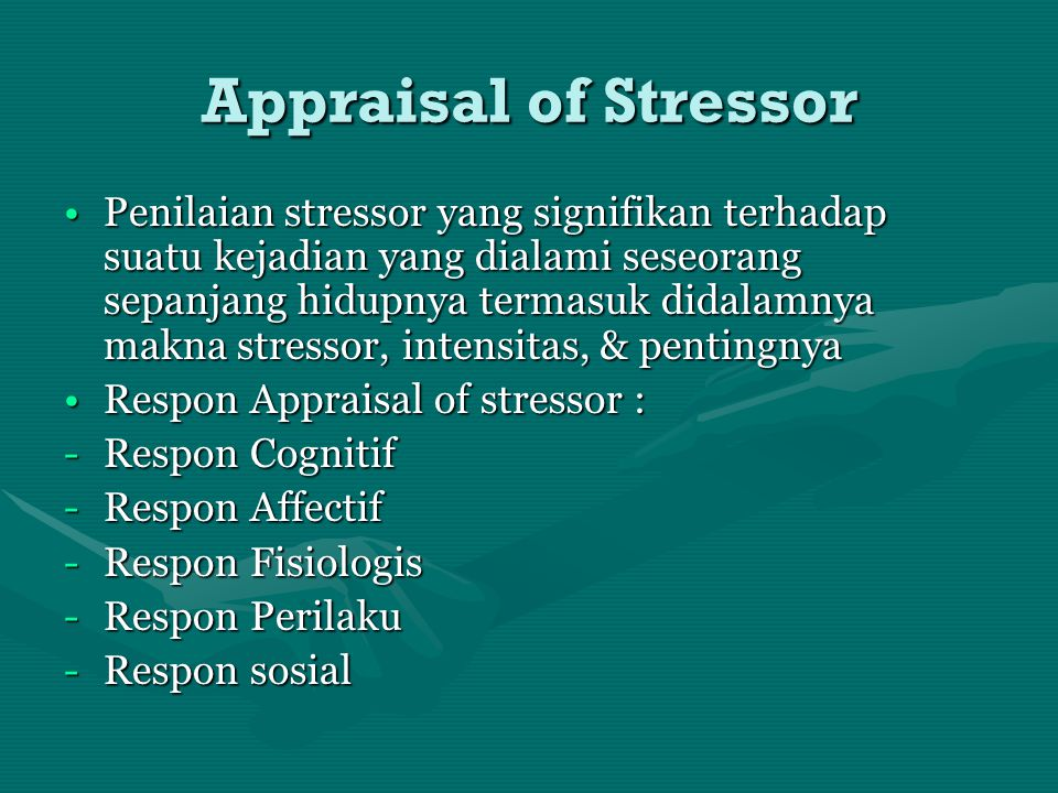 Appraisal of Stressor