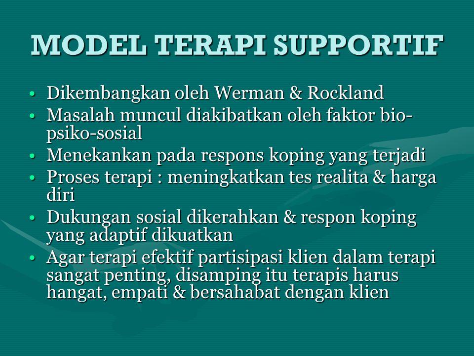 MODEL TERAPI SUPPORTIF