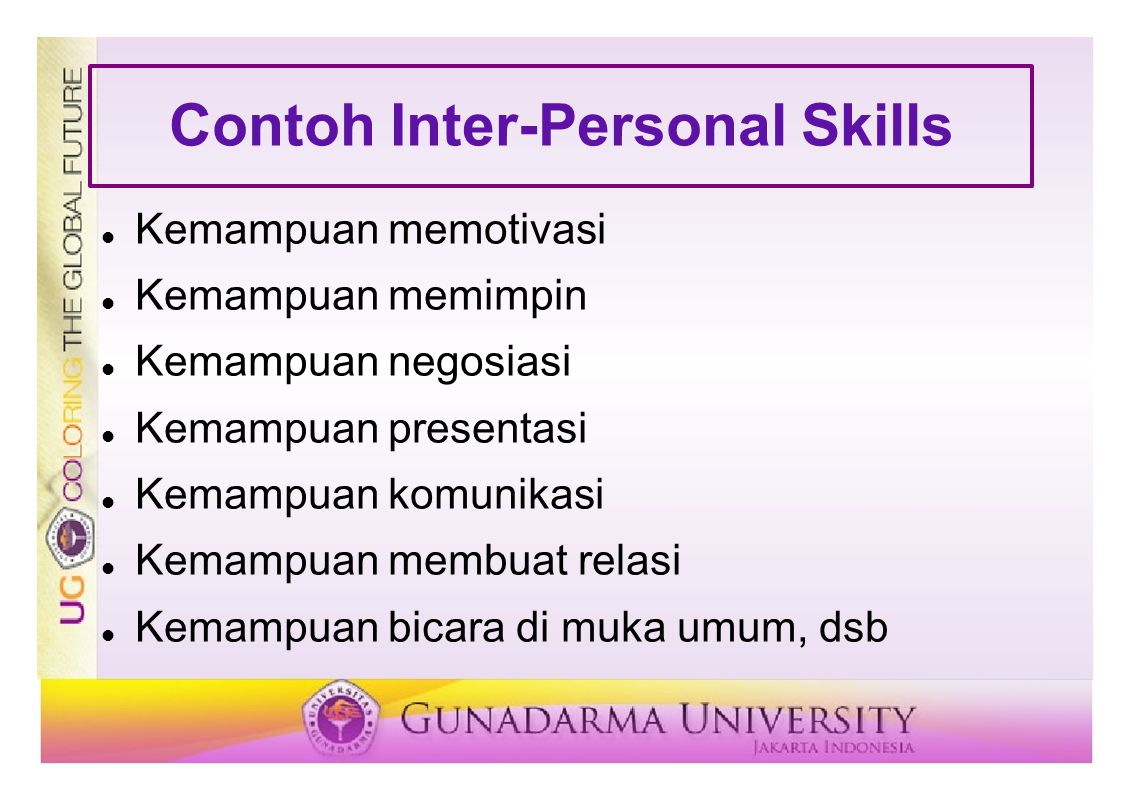Contoh Inter-Personal Skills