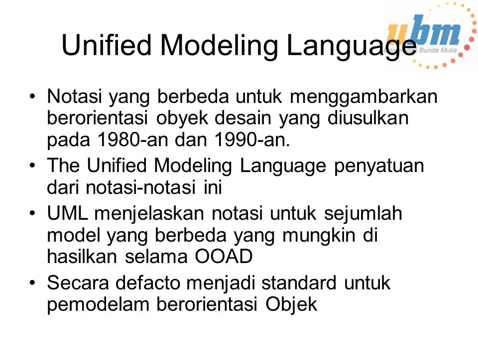 Unified Modeling Language