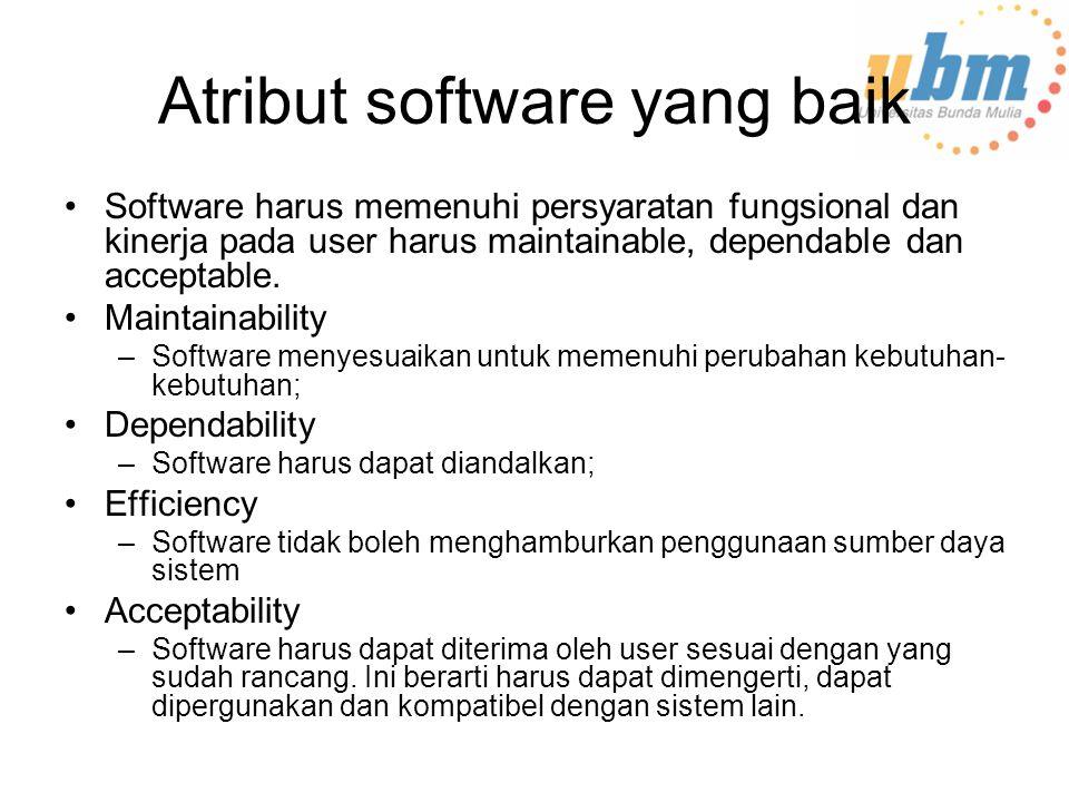 Atribut software yang baik