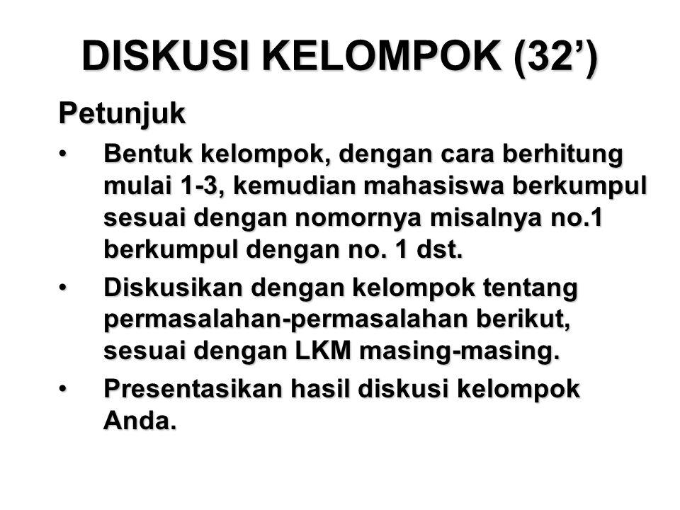 DISKUSI KELOMPOK (32') Petunjuk