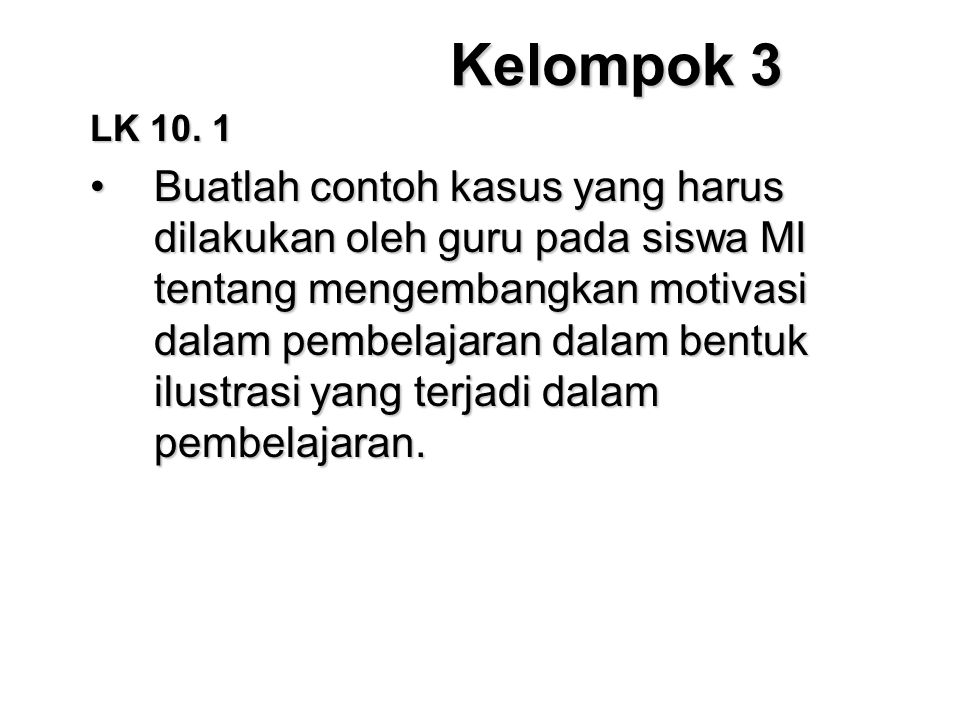 Kelompok 3 LK 10. 1.
