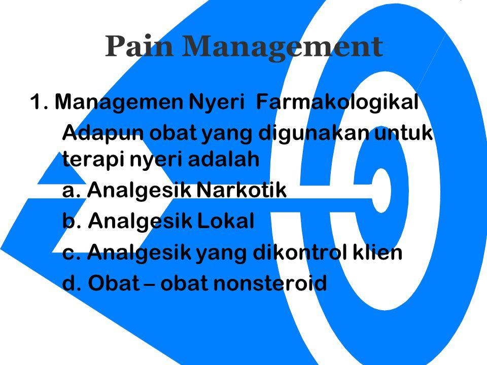Pain Management 1. Managemen Nyeri Farmakologikal