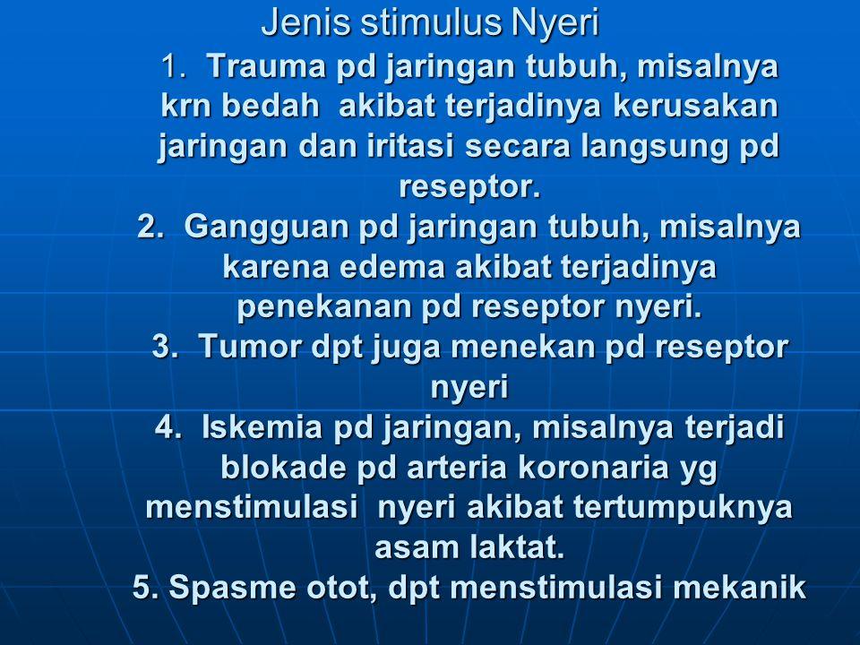Jenis stimulus Nyeri 1.