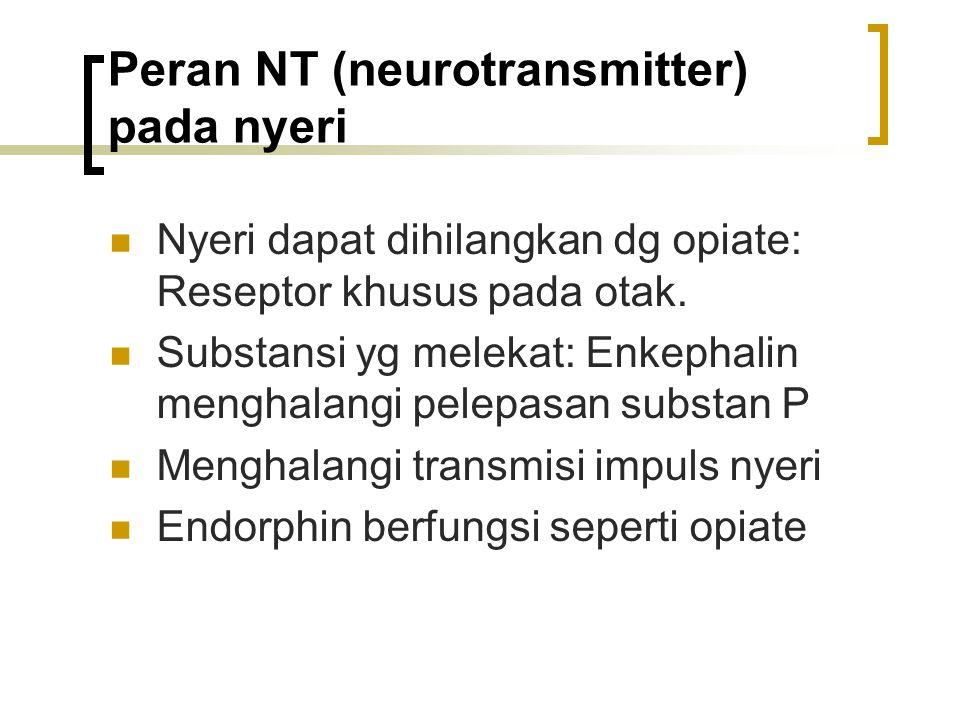 Peran NT (neurotransmitter) pada nyeri