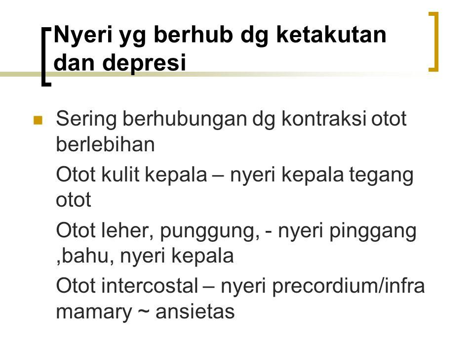 Nyeri yg berhub dg ketakutan dan depresi
